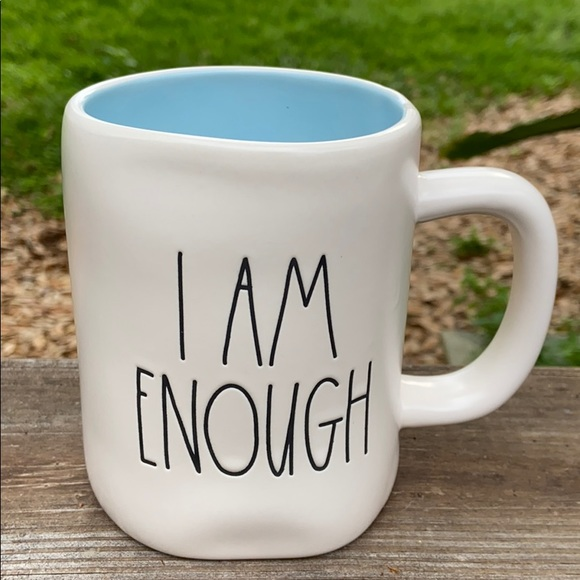 New Rae Dunn I AM ENOUGH Coffee Tea Mug